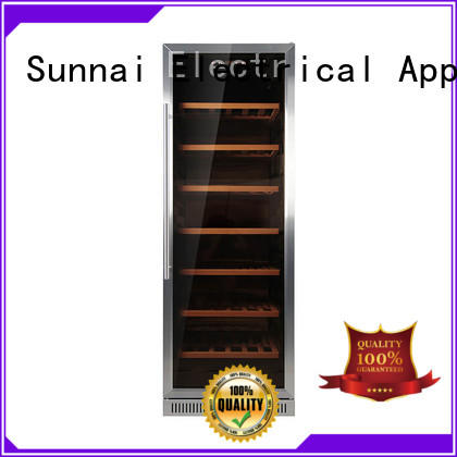Sunnai professional dual zone undercounter wine cooler series for home