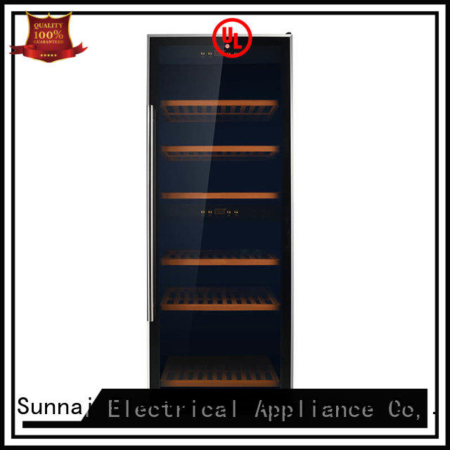 Sunnai smaller dual zone wine cooler manufacturer for indoor