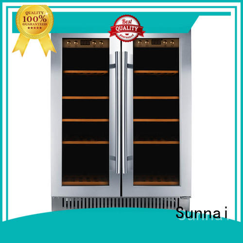 Sunnai compressor double doors wine cooler wholesale for home