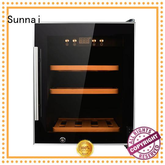 Sunnai panel single zone wine fridge wholesale for indoor