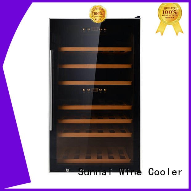 Sunnai zone free standing wine refrigerator product for shop