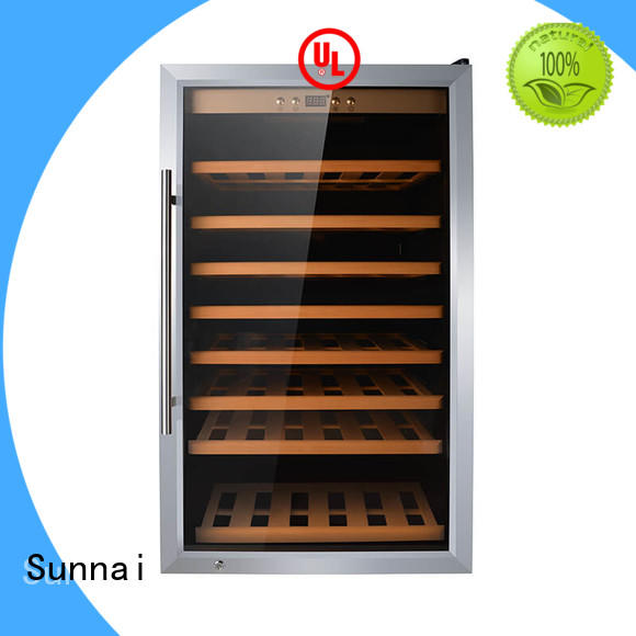 Sunnai beech compressor wine cooler dual zone manufacturer for home