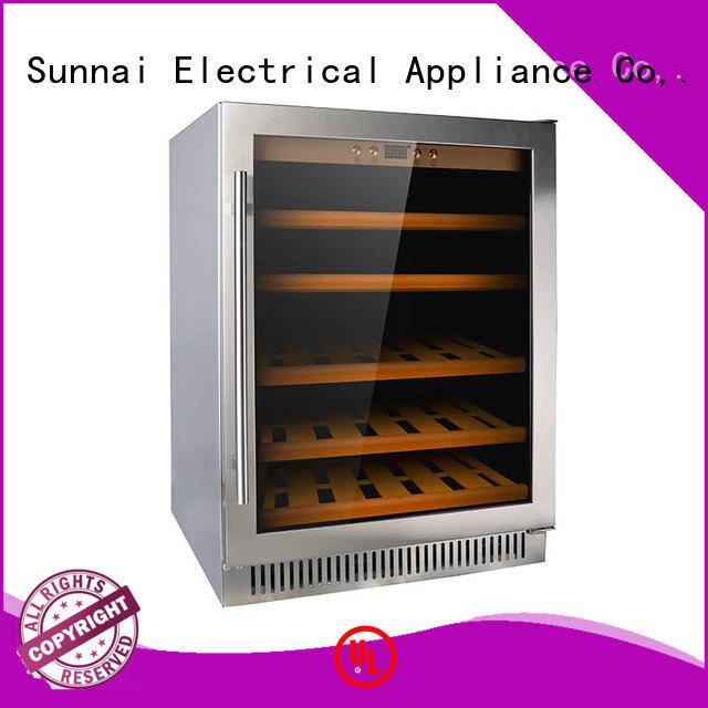 Sunnai double dual zone undercounter wine cooler cooler work