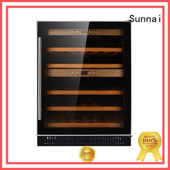Sunnai silver under counter wine fridge series for shop