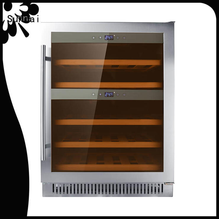professional under counter dual zone wine fridge dual cooler for indoor