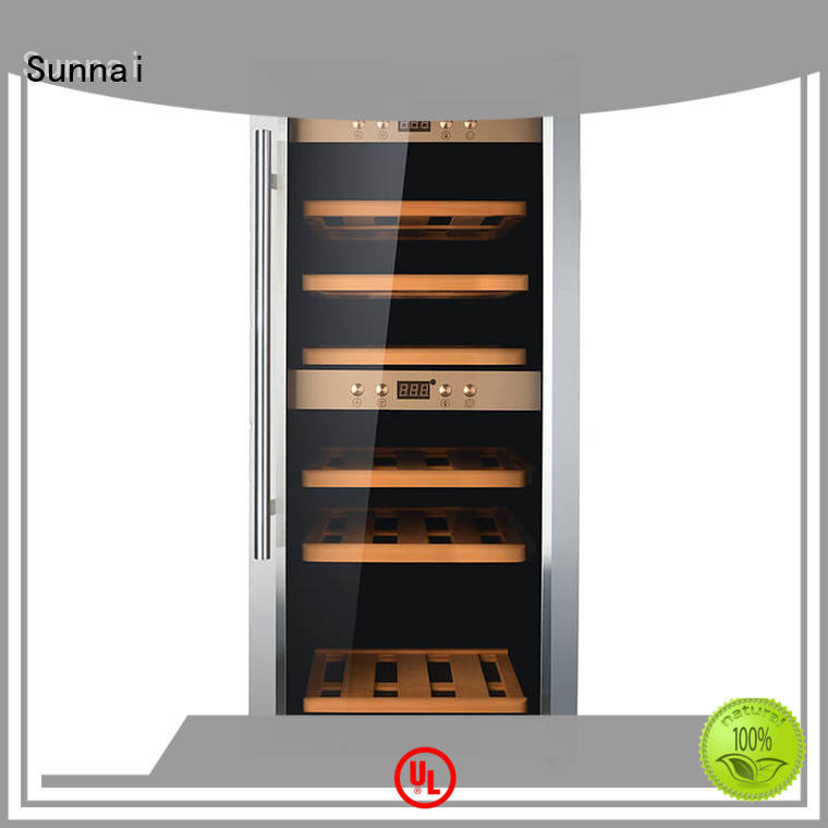 Sunnai dual wine storage cooler supplier for shop