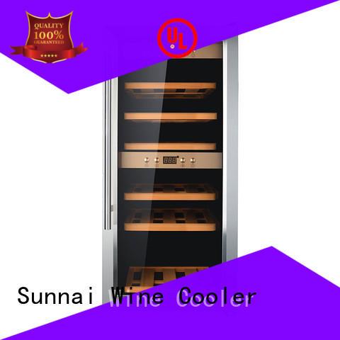 Sunnai wine stainless steel door wine cooler supplier for work station