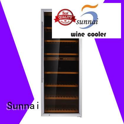 Sunnai refrigerator dual zone wine cooler manufacturer for work station
