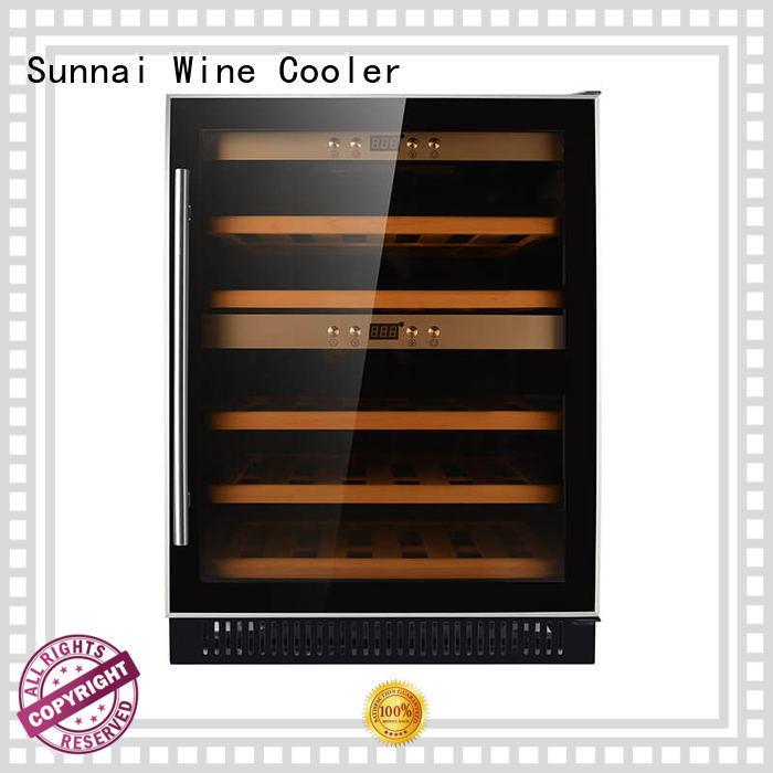 Sunnai cooler single zone wine fridge wholesale for indoor