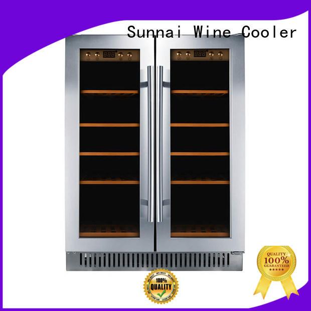 Sunnai durable under counter wine fridge manufacturer for work station