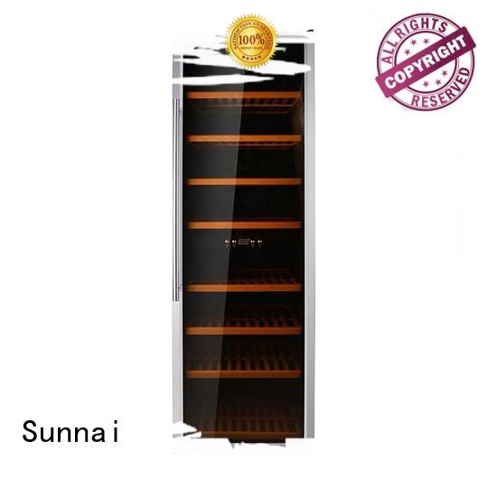 Sunnai double dual zone wine refrigerator series for work station