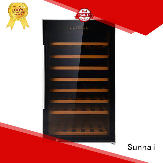 Sunnai black wine bottle fridge supplier for work station