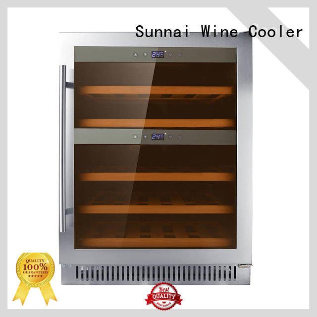 professional double doors wine cooler dual cooler for shop
