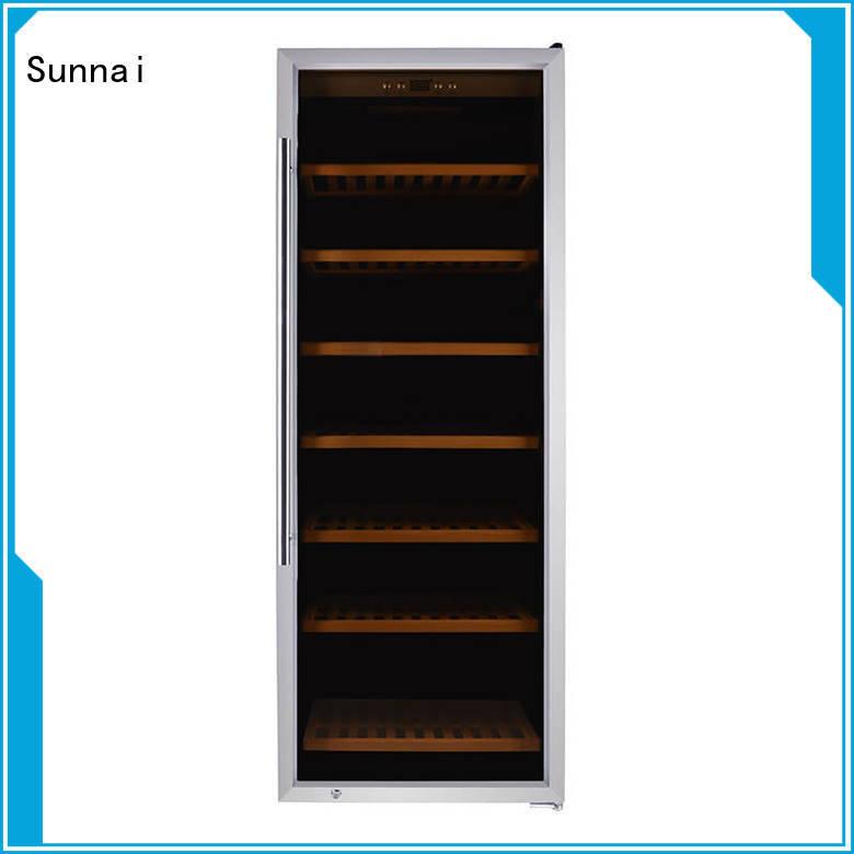 Sunnai wine single zone wine fridge manufacturer for work station