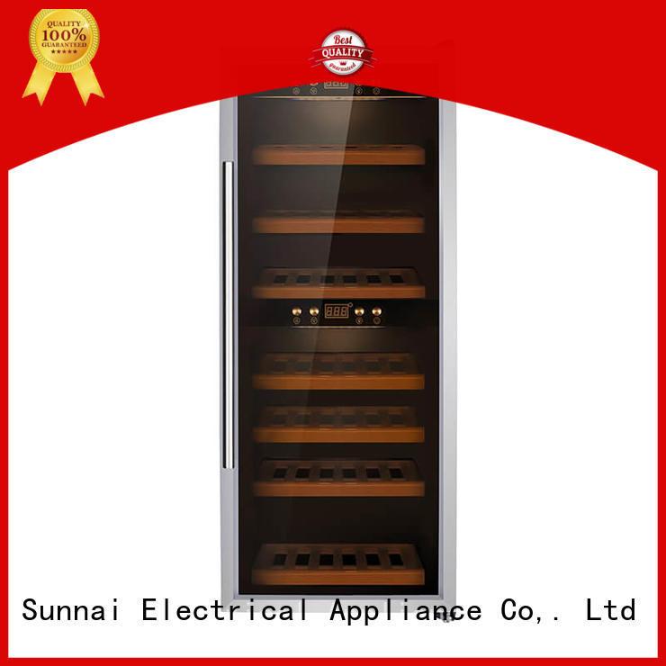 Sunnai freestanding single zone wine cooler refrigerator for home