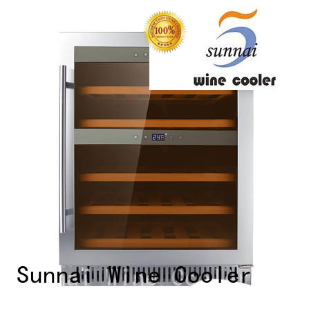 Sunnai online dual zone undercounter wine cooler cooler for home
