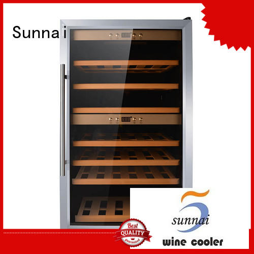 professional stainless steel door wine cooler cellar wholesale for home
