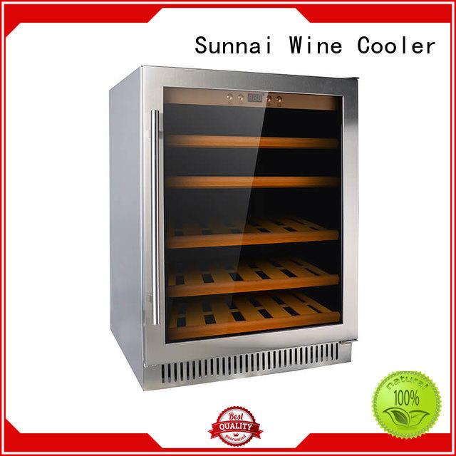 Sunnai bottles under counter wine refrigerator wholesale for work station