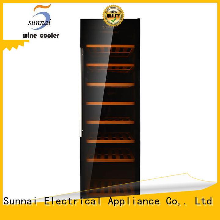 Sunnai refrigerator dual zone freestanding wine cooler manufacturer for indoor