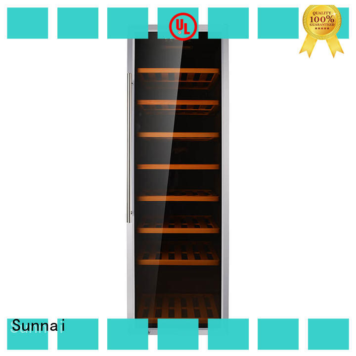 Sunnai high quality wine bottle cooler refrigerator for shop