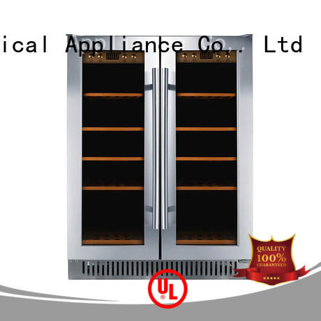 Sunnai panel under counter wine refrigerator manufacturer for work station