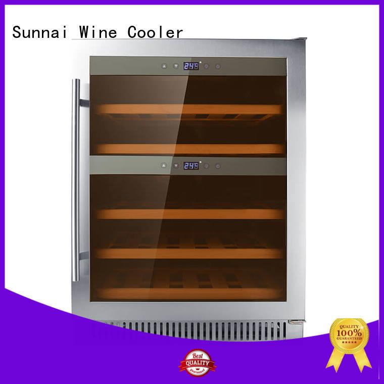 Sunnai steel single zone wine fridge compressor for home