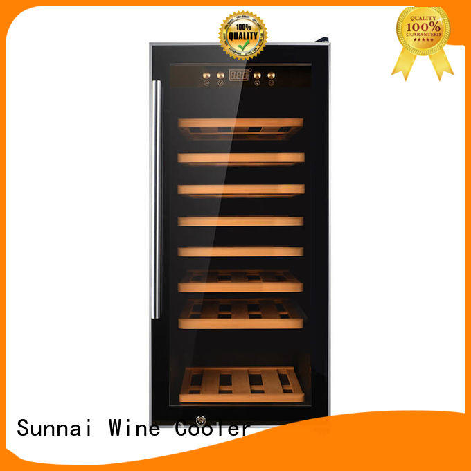 Sunnai double stainless steel door wine cooler supplier for shop