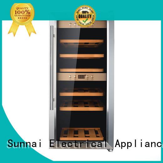 Sunnai compressor dual zone wine fridge series for home