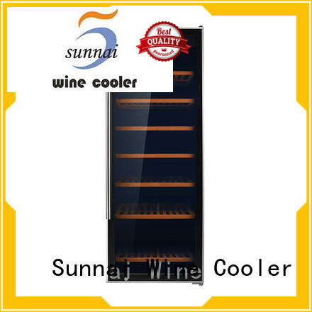 Sunnai dual single zone wine fridge supplier for work station