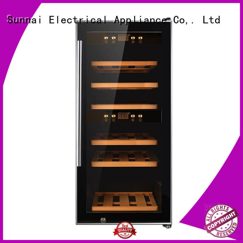 Sunnai high quality single zone wine refrigerator supplier for work station