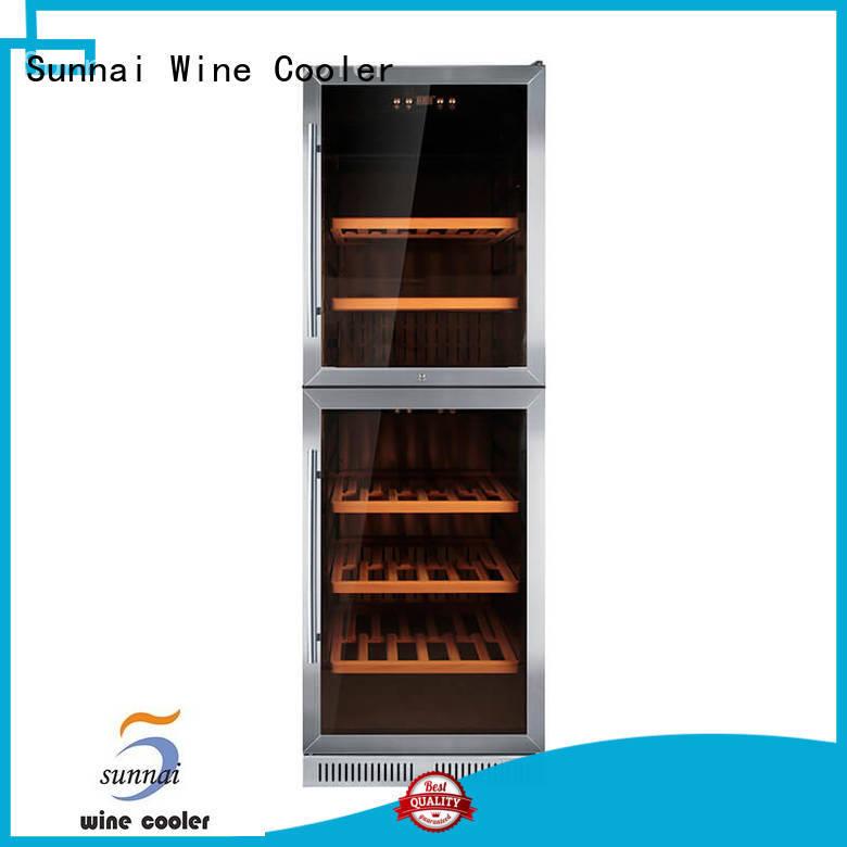 Sunnai double double doors wine cooler compressor for indoor