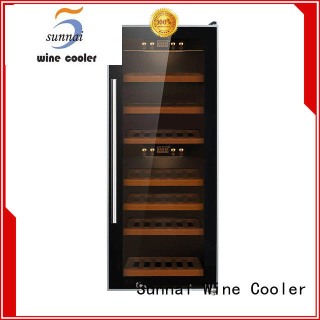 panel white wine cooler manufacturer for work station Sunnai