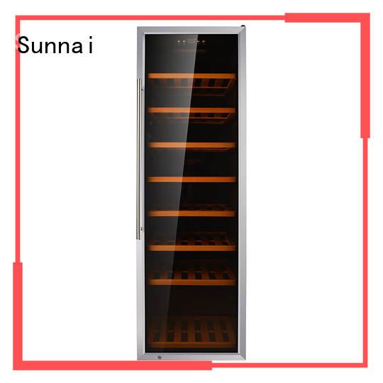 Sunnai wine freestanding wine fridge manufacturer for work station