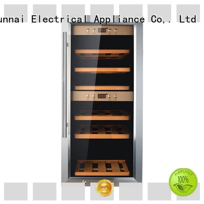 black dual zone wine refrigerator freestanding manufacturer for home