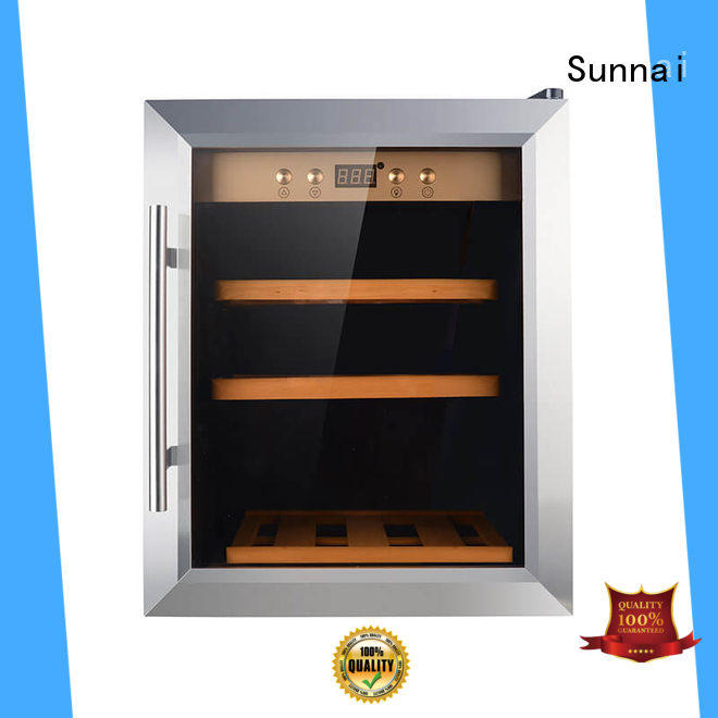 Sunnai black wine storage cooler product for home