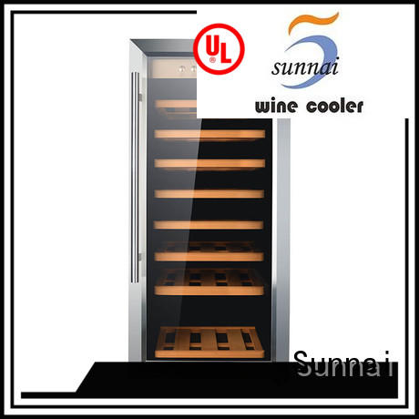 Sunnai steel dual zone wine cooler manufacturer for work station