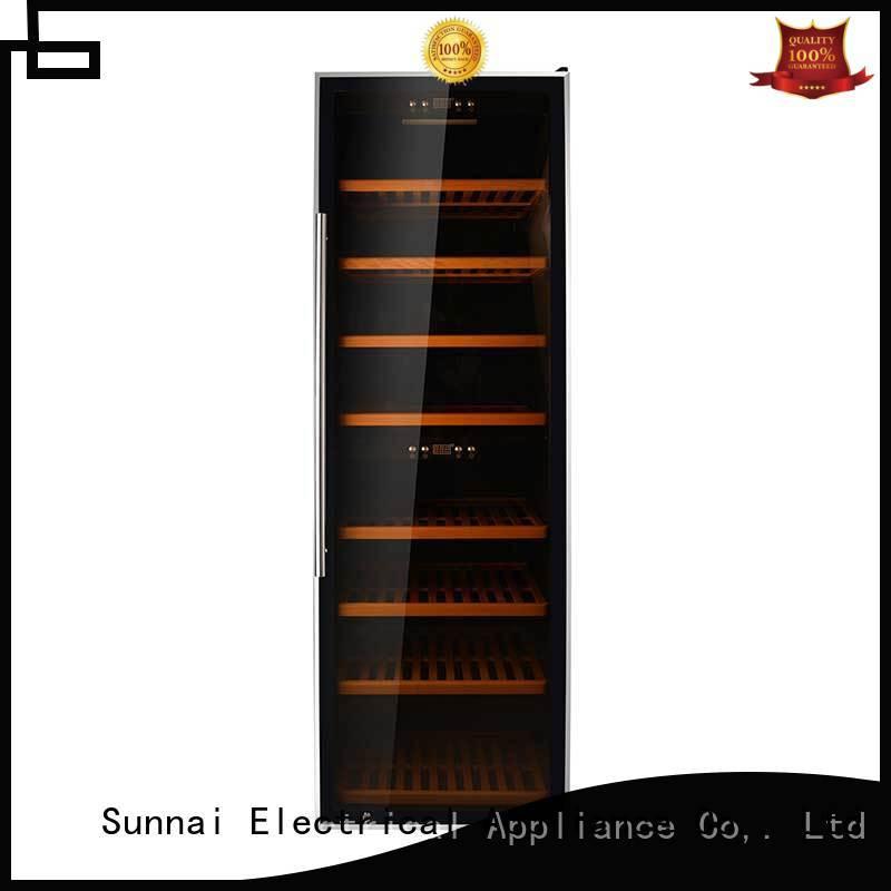 Sunnai dual wine bottle fridge product for work station