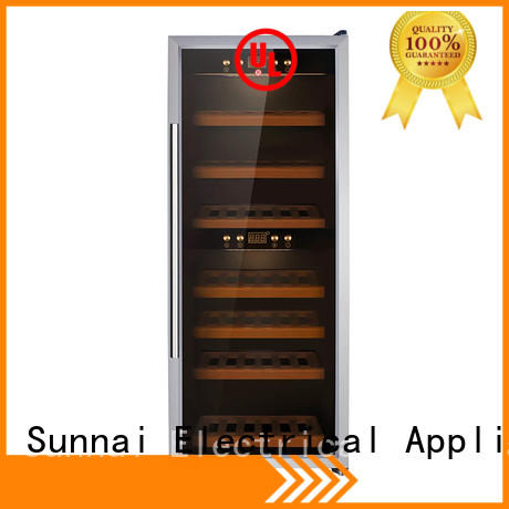 Sunnai steel dual zone wine cooler series for shop