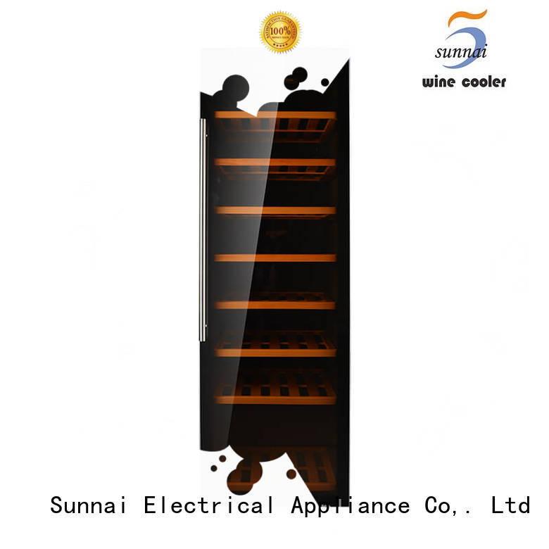 Sunnai safety freestanding wine fridge manufacturer for shop