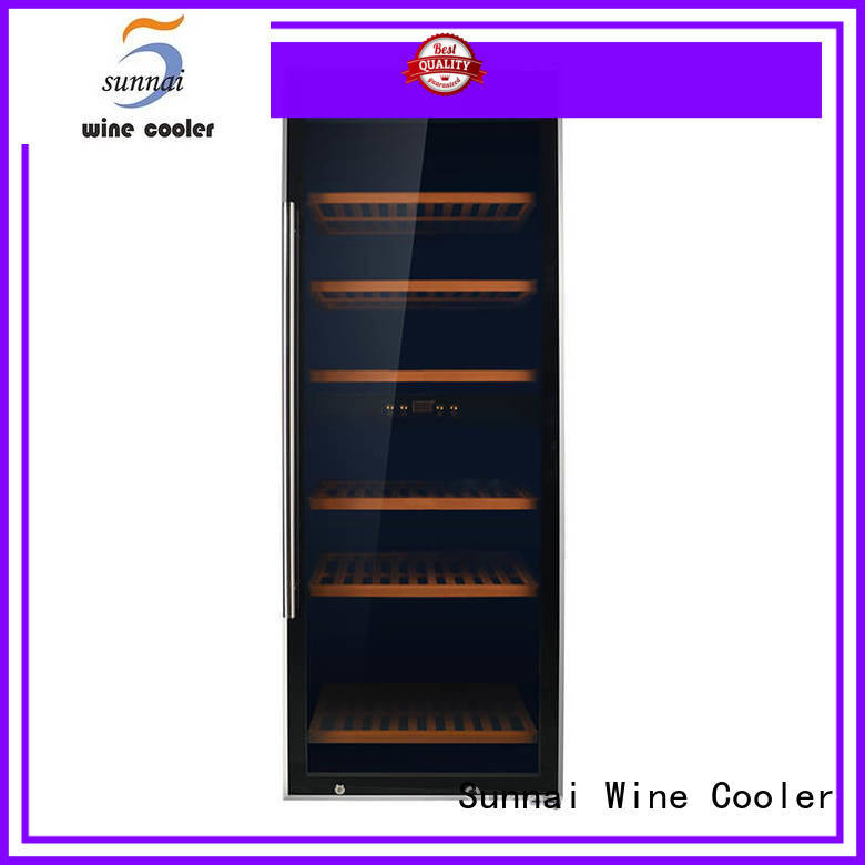 safety single zone wine refrigerator door wholesale for work station