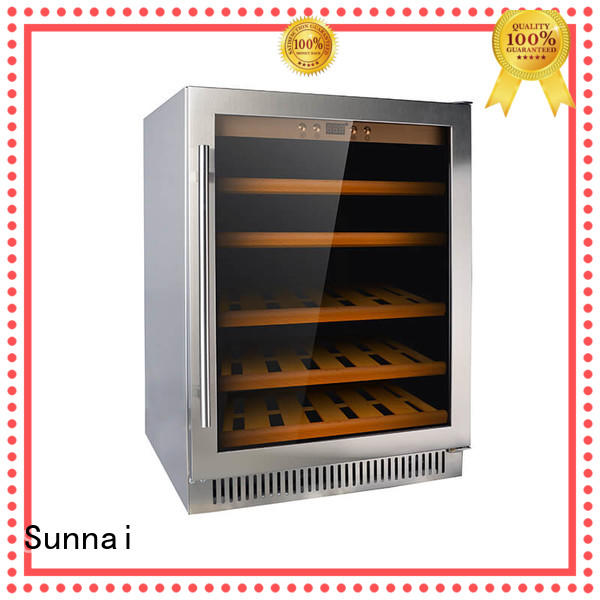 Sunnai double compressor wine coolers manufacturer for work station