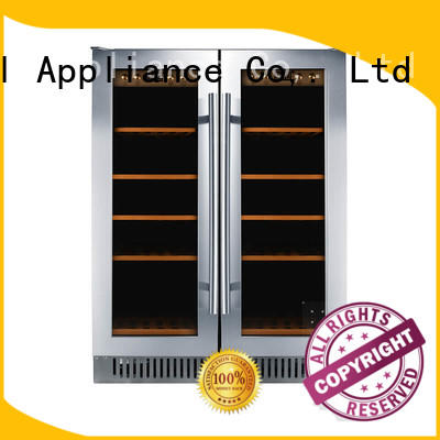 professional under counter dual zone wine fridge panel series for shop