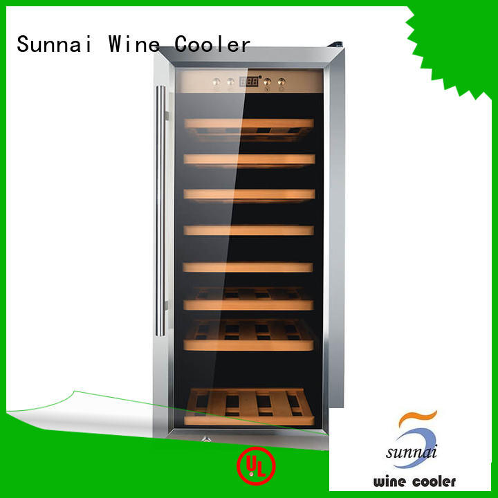 Sunnai safety stainless steel door wine cooler wholesale for home