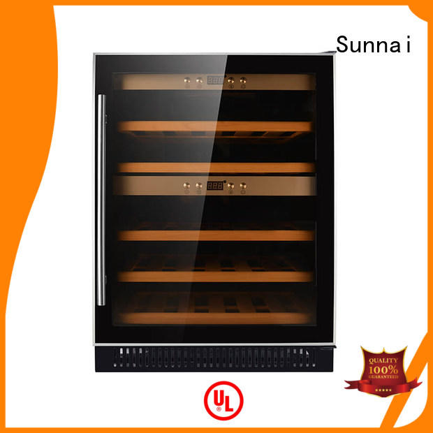 Sunnai silver under counter dual zone wine fridge wholesale for work station
