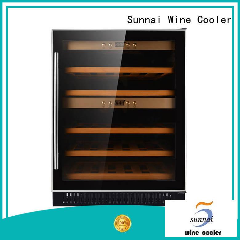 Sunnai silver single zone wine fridge supplier for indoor
