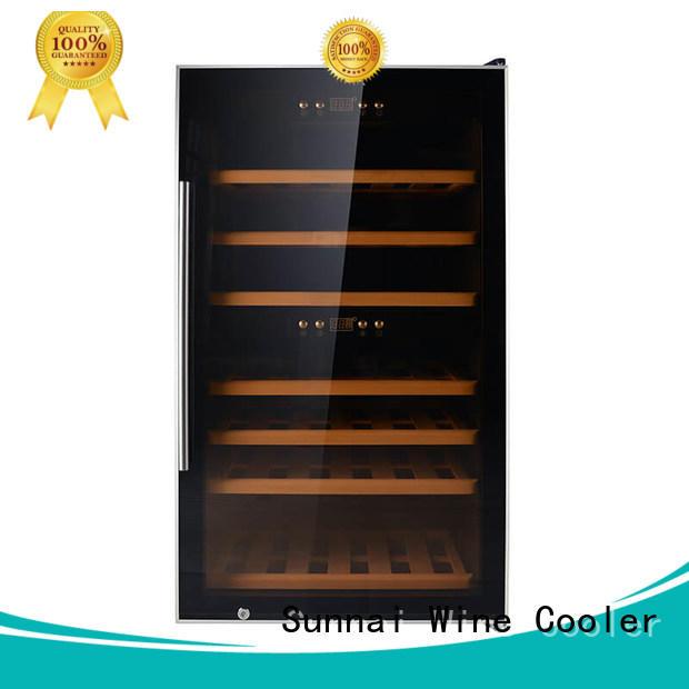 Sunnai single dual zone wine fridge supplier for home