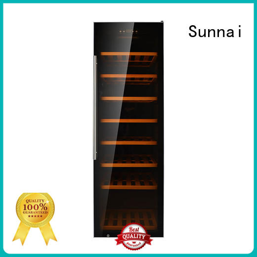 Sunnai double free standing wine refrigerator wholesale for home