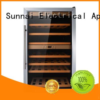 Sunnai professional compressor wine cooler dual zone refrigerator for home