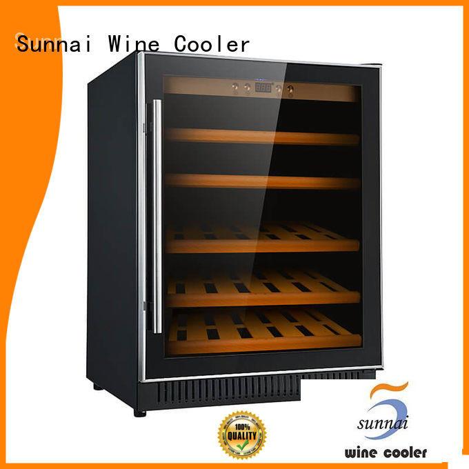 Sunnai fridge single zone wine fridge compressor for home