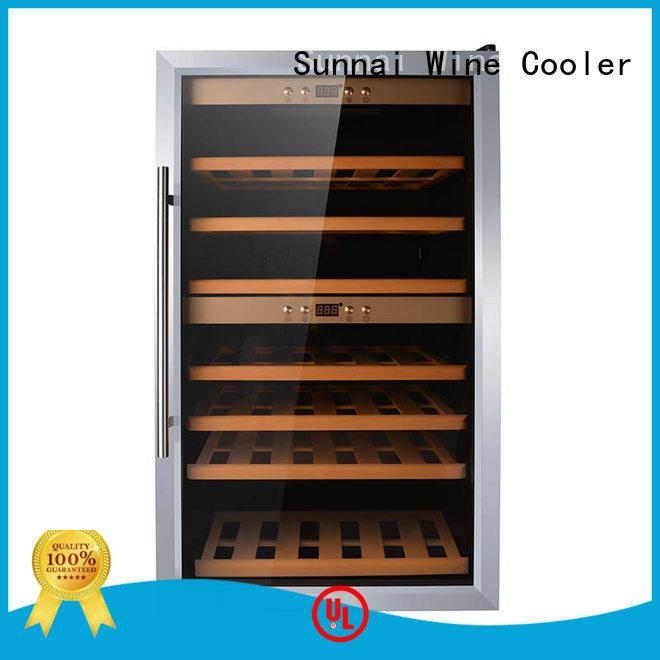 Sunnai black fridge freezer with wine cooler steel for shop